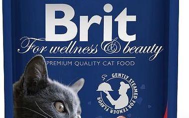 Brit Premium Cat kapsička with Beef Stew & Peas 100 g