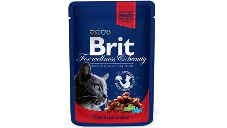 Brit Premium Cat kapsička with Beef Stew & Peas 100 g