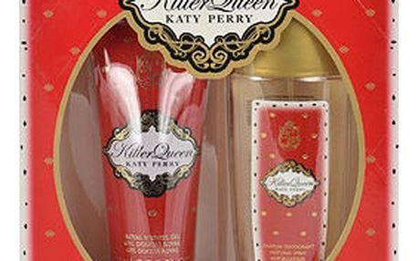 Katy Perry Killer Queen deodorant dárková sada Deospray W - deospray 75 ml + sprchový gel 75 ml