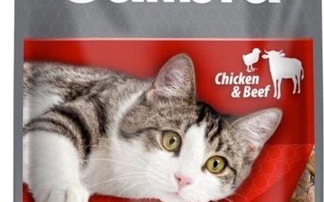 Calibra Cat kapsička kuřecí a hovězí v omáčce 100g
