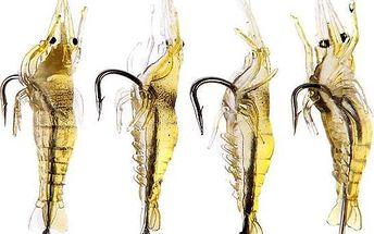 Rybářská nástraha v podobě krevety