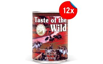 12 x 375g konzervy Taste of the Wild Southwest s vysokým obsahem masa