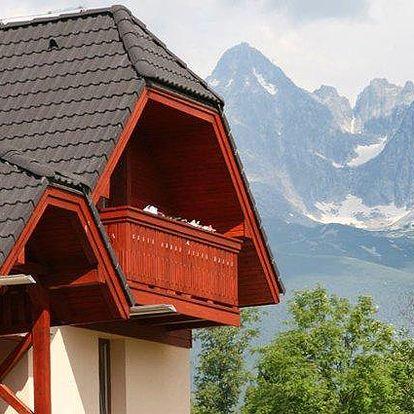 3–5denní pobyt pro 2 se slevou na wellness v Tatrách v penzionu Villa Domino