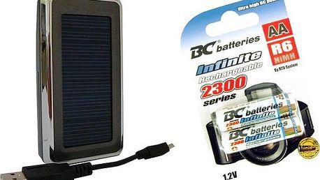Inteligentní solární nabíječka BC-25 s párem nabíjecích baterií nebo bez