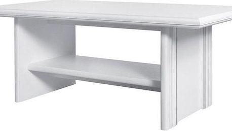 Konferenční stolek Lettore - bílý - DOPRAVA ZDARMA!