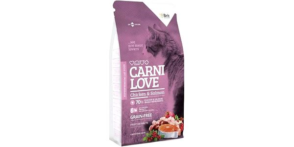 Brit Carnilove Cat Chicken and Salmon 7 kg + Doprava zdarma