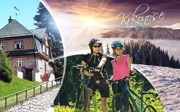 Krkonoše - Pec pod Sněžkou! 3-8 dní pro 1 osobu v penzionu Jesenka s polopenzí! Možnost výletů, cyklistiky i lyžování!