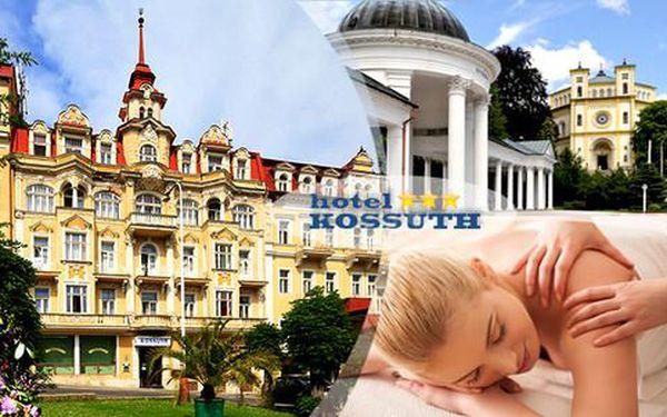 Bohaté wellness balíčky plné procedur s polopenzí pro dva v hotelu Kossuth
