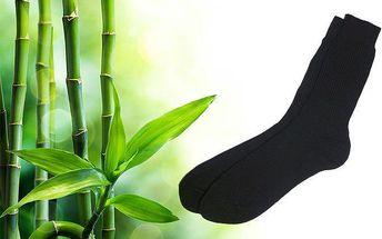 12 párů černých ponožek s bambusovými vlákny a antibakteriálními účinky