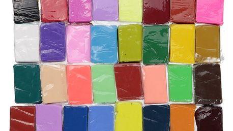 32 kusů polymerové hmoty - velká sada - dodání do 2 dnů