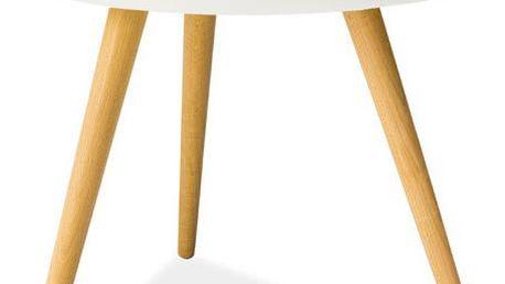 Konferenční stolek Toni 50 cm, bílý - doprava zdarma!