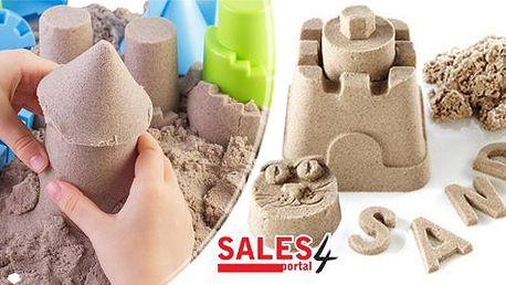 Zázračný magický písek 500g. Ekologický, jemný a motoriku procvičující písek s unikátním pojivem nejen pro děti.