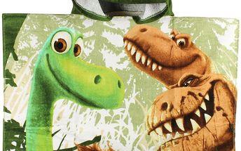 Disney Brand Chlapecká osuška/pončo Hodný dinosaurus - zelená