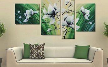 Ručně malované čtyřdílné obrazy