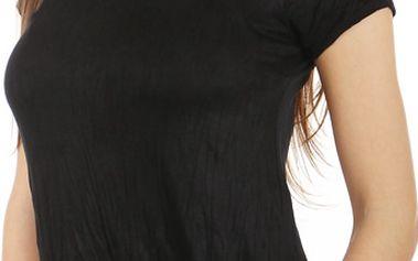 Pohodlné tričko s krátkým rukávem černá