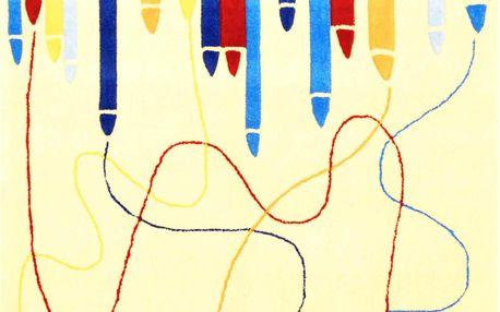 Bakero Koberec Pastelky, 170x120 cm, Béžová