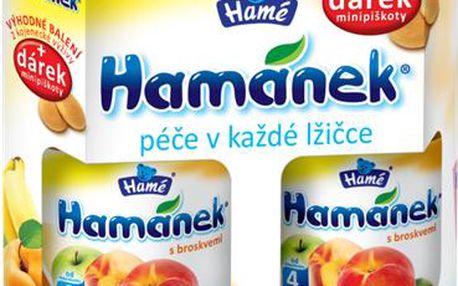 Hamánek DUOPACK s broskvemi 2ks 380g + piškoty 25g