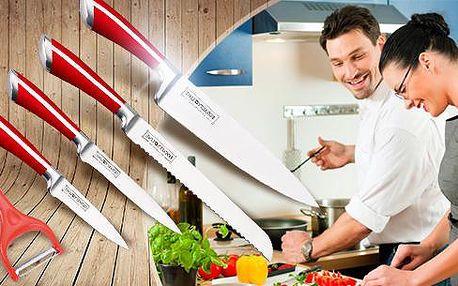 Keramické nože Royalty Line Switzerland - 5 kusů + škrabka a exkluzivní dárková krabice, poštovné v ceně!