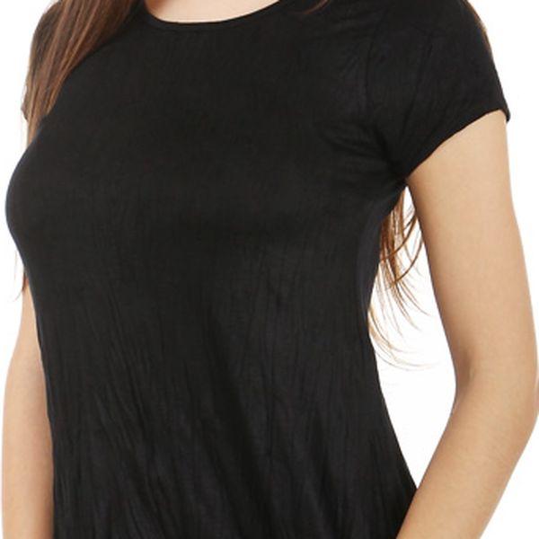 Dámské asymetrické tričko černá