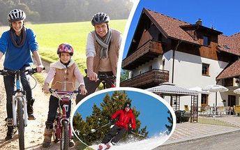 Jarní prázdniny nebo léto na Šumavě v krásných apartmánech v rodinném Penzionu Alpský Dům - pobyt s polopenzí na 3 dny pro 2 osoby + další 1 nebo 2 osoby a 1 dítě do 5 let v ceně! Vyhlášené horské středisko Železná Ruda, kvalitní zimní i letní vyžití a hl