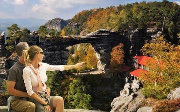 Aktivní relax v Českém Švýcarsku pro dva včetně polopenze
