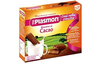 4x PLASMON Kakaové sušenky PLASMON 75g