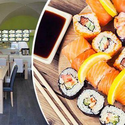50% sleva na sushi a ostatní japonská jídla v restauraci Sushi Oishi