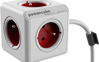 Kabel prodlužovací Powercube Extended 1,5m bílá/červená + Doprava zdarma