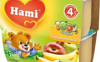 Hami 100% ovoce jablko,banán 6x400g