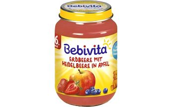Bebivita Jablka s jahodami a borůvkami 6x190g