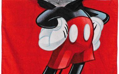Disney Brand Chlapecká osuška/pončo Mickey Mouse - červené
