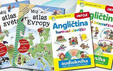 Atlasy a angličtiny pro děti s doručením zdarma
