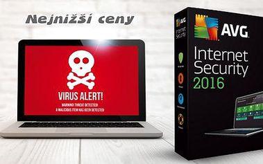 Antivirový program pro PC - AVG Internet Security, 3 licence na 2 roky. Vysoce výkonná ochrana, snadná instalace.