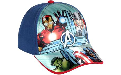 Disney Brand Chlapecká kšiltovka Avengers - modrá, 54 cm