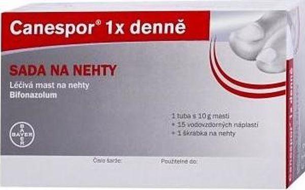 Lokální antimykotikum Canespor 1x denně sada na nehty 10 gm