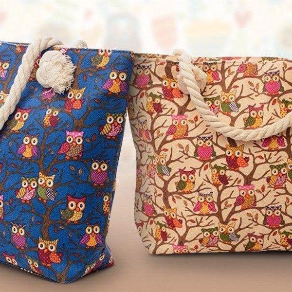 Dámské tašky s barevným vzorem