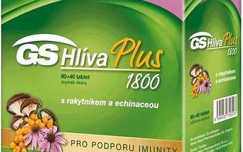 GS Hlíva Plus 80 + 40 tablet ZDARMA pro podporu imunity