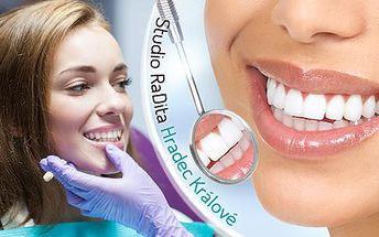 Neperoxidové bělení zubů modrým světlem! 30minutová bezbolestná metoda pro bělejší chrup až o 8 odstínů!