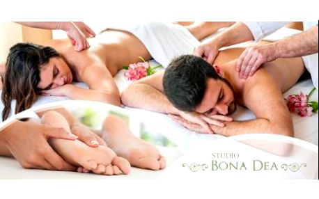 Romantický relaxační balíček pro 2 osoby = 2x 90 minut! Olejová masáž celého těla + zábal + masáž plosek nohou.