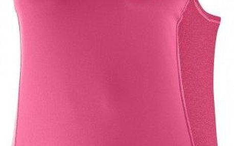 Dámské běžecké tílko Salomon Agile Tank W Hot Pink/Lotus Pink L