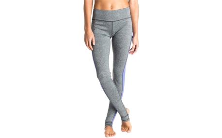 Dámské fitness legíny Roxy Breathless Pant J Graphite Heather S