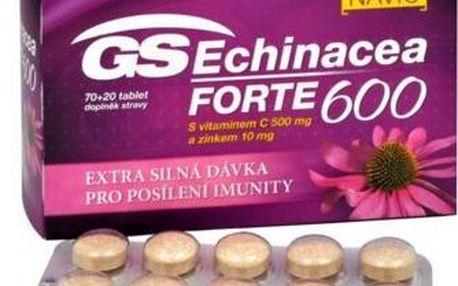 GS Echinacea FORTE 600, 90 tablet k rychlé a účinné podpoře imunity