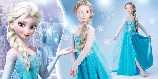 Ledové království - Frozen! Pohádkové šaty princezny Elsy. Dětský kostým ve více velikostech vč. poštovného.