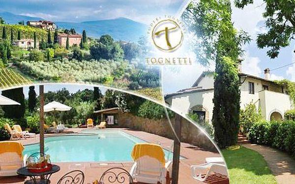 Itálie, Toskánsko na 4 dny pro 2 osoby v apartmánu či pokoji vč. bazénu, tenisu, lahve vína a ochutnávky!
