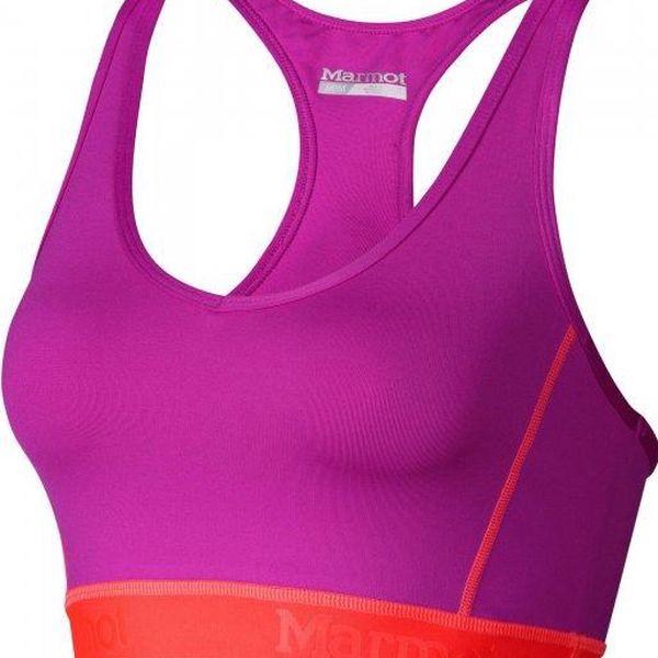Sportovní podprsenka Marmot Wm's Layer Up Sportsbra Beet Purple/Bright Pink S