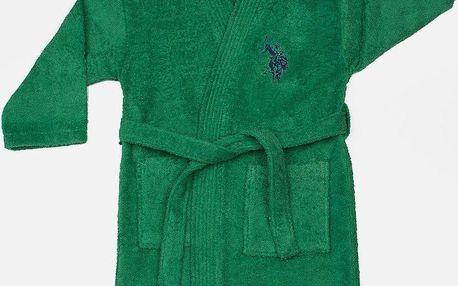 Dětský župan U.S. Polo Assn Uspa Green, vel. 3/4 roky