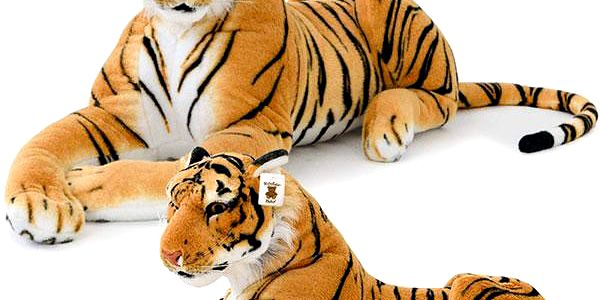 Plyšový tygr obřích rozměrů - 136 cm