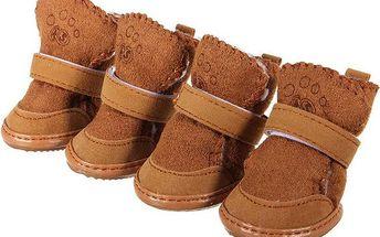 Teplé psí boty - 2 barvy, 5 velikostí