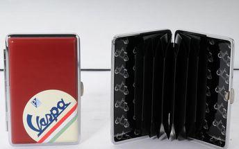 Pouzdro na kreditní karty/vizitky Vespa Red