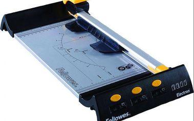 Řezačka Fellowes Electron A4 kolečková, 8 listů, kovová základna, LED